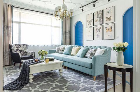 客厅窗帘田园装饰实景图