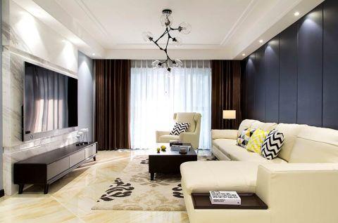 富丽客厅背景墙室内装修图片