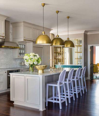 高贵风雅厨房吧台装修案例效果图
