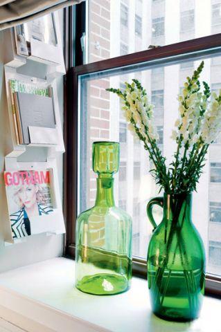 混搭卧室窗台diy花瓶装修图片
