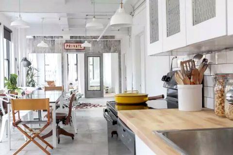 潮流厨房现代装饰实景图