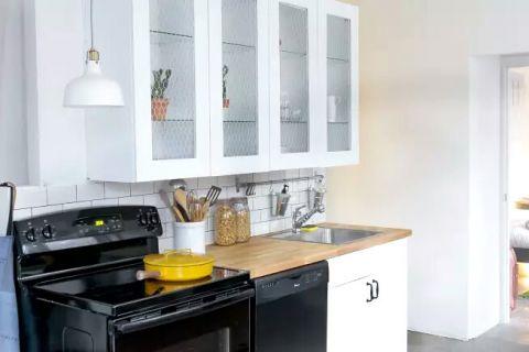 厨房黑色橱柜装饰实景图