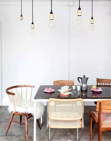 纯净餐厅背景墙家装设计