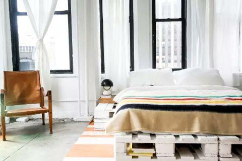 浪漫现代白色窗帘装修