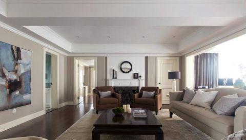 现代简约客厅吊顶家装设计图