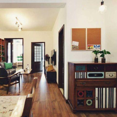 庄重白色客厅储物柜装饰图片