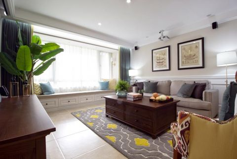 美式风格套房122平米室内装饰