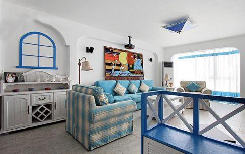 2018地中海90平米装饰设计 2018地中海套房设计图片