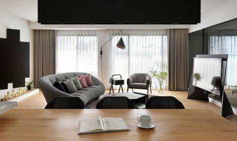 客厅灰色窗帘效果图大全
