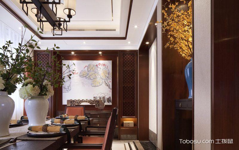 2019中式古典餐厅效果图 2019中式古典吊顶装修图片
