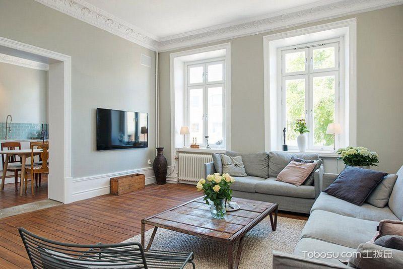 95平北欧白色三居设计图 享受惬意生活