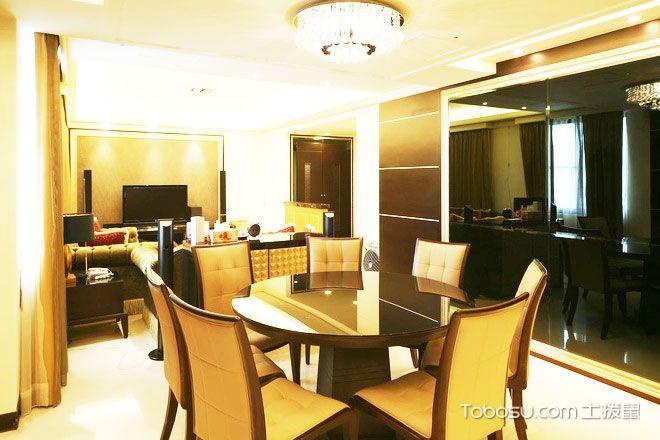 温馨暖黄色 165平米简约风格公寓