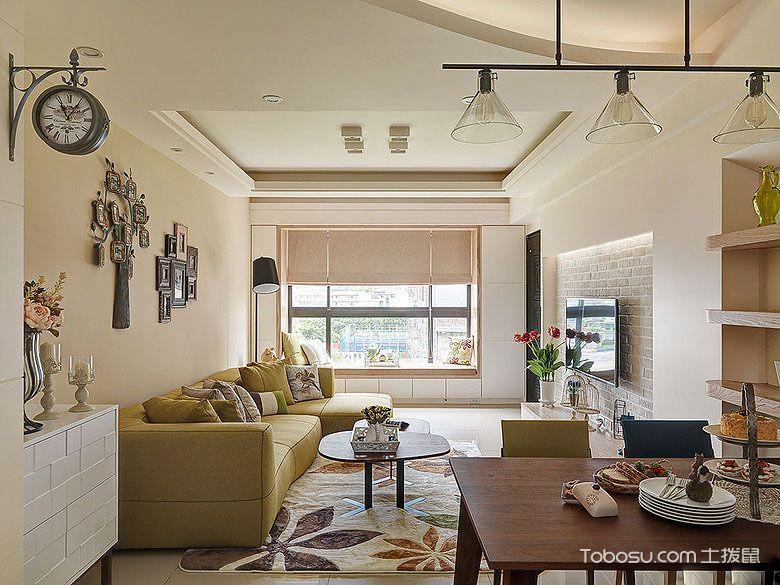 客厅咖啡色背景墙现代风格效果图