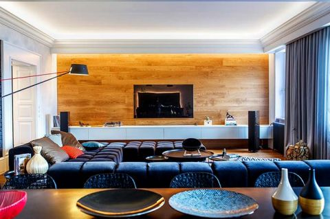 现代客厅吊顶装修美图