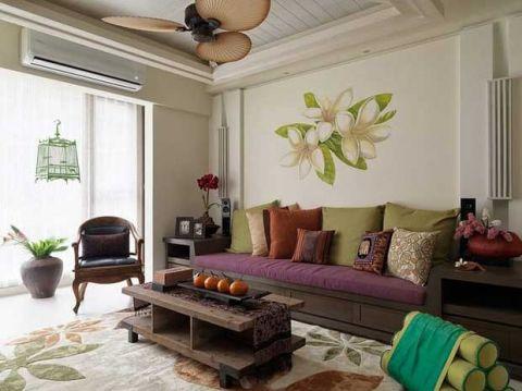 111平米套房东南亚风格实景图