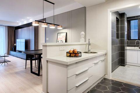 2018现代简约厨房装修图 2018现代简约厨房岛台装饰设计