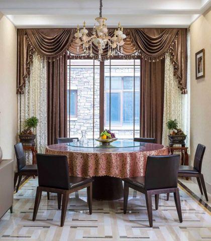 摩登餐廳窗簾裝潢實景圖片