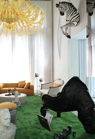 奢华大气白色客厅效果图大全
