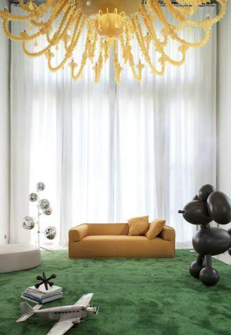 简约客厅窗帘室内装饰
