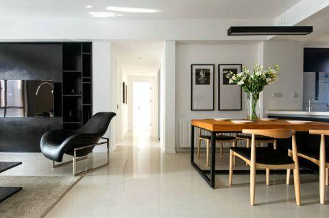 餐厅白色地板装修案例