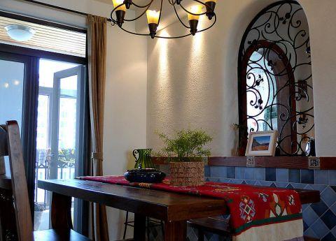 2018地中海餐厅效果图 2018地中海餐桌装修图片