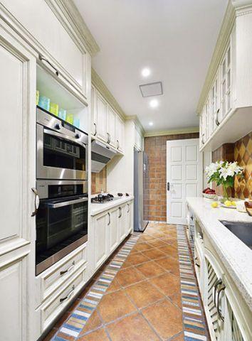 美式厨房吸塑橱柜装修设计图片