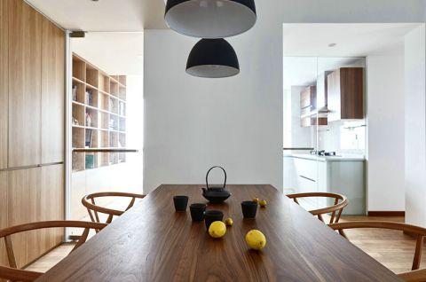 清新素丽现代简约咖啡色餐桌装潢图片
