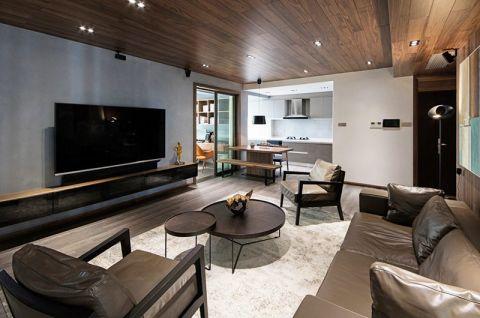 朴素温馨客厅现代简约家装设计图