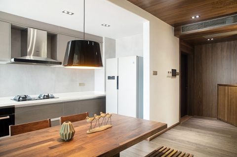 厨房灰色橱柜实景图