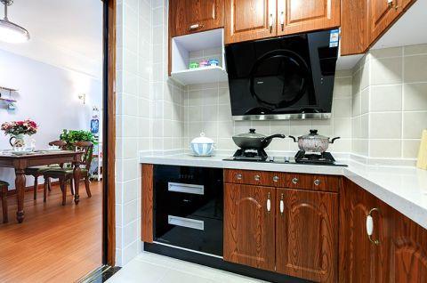 厨房实木橱柜美式装修