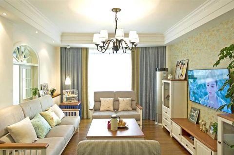 137平米二居室田园风格室内装修设计