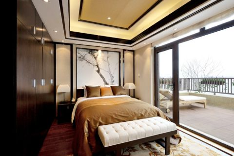 2018新中式卧室装修设计图片 2018新中式吊顶效果图
