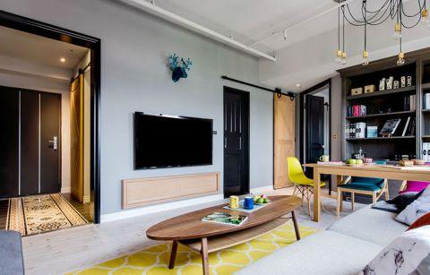 2018混搭客厅装修设计 2018混搭电视背景墙装修设计图片