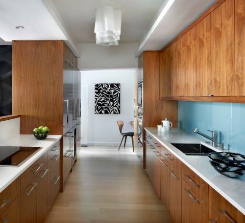 混搭厨房实木橱柜装修实景图