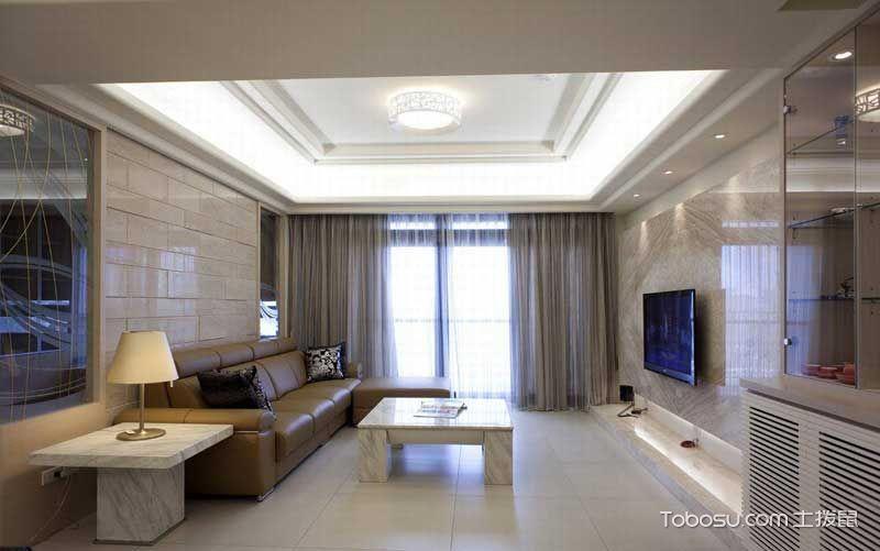 套房104平米现代简约风格效果图图片