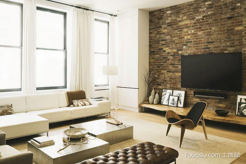 2020复古客厅装修设计 2020复古窗帘装修效果图片