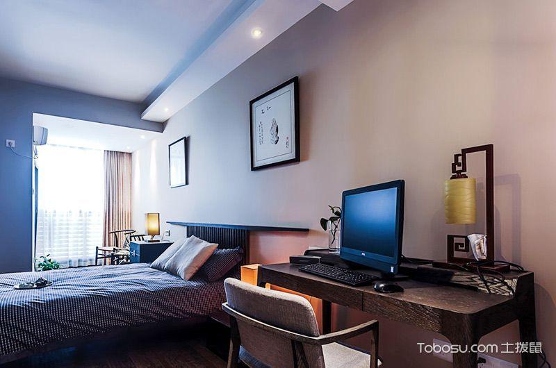 2020中式卧室装修设计图片 2020中式书桌装修图