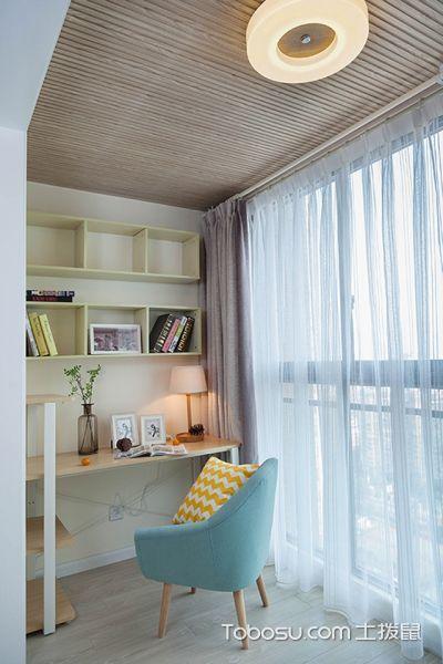 2020现代中式阳台装修效果图大全 2020现代中式书桌装饰设计