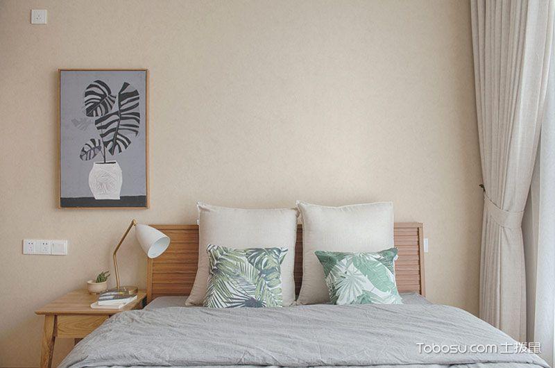 120平日式风格三房两厅设计 朴素淡雅