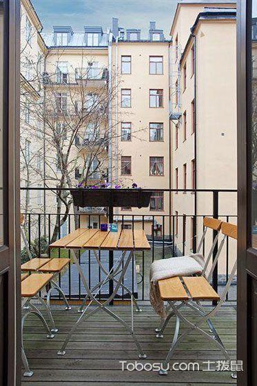 2020现代中式阳台装修效果图大全 2020现代中式地砖装修设计