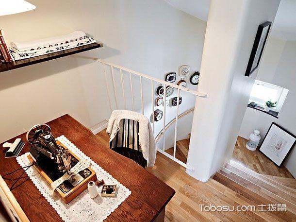 白色与原木结合 小户型装修 69平米雅致复式公寓