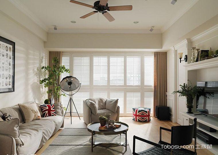 114平米套房美式风格案例图