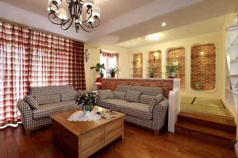 格调客厅竹地板装潢实景图