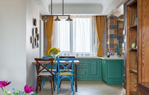 2018混搭厨房装修图 2018混搭窗帘设计图片