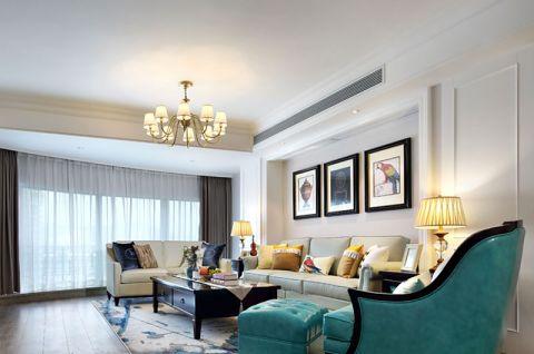美式风格二居室128平米装修