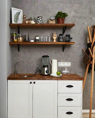 设计精巧厨房储物柜装修美图