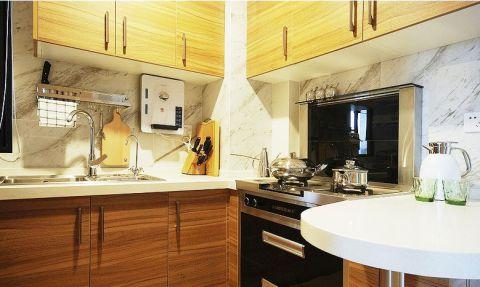 设计精巧宜家咖啡色实木橱柜装潢设计图片
