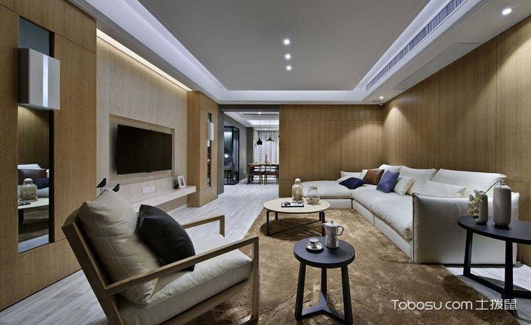 套房115平米现代简约风格室内效果图
