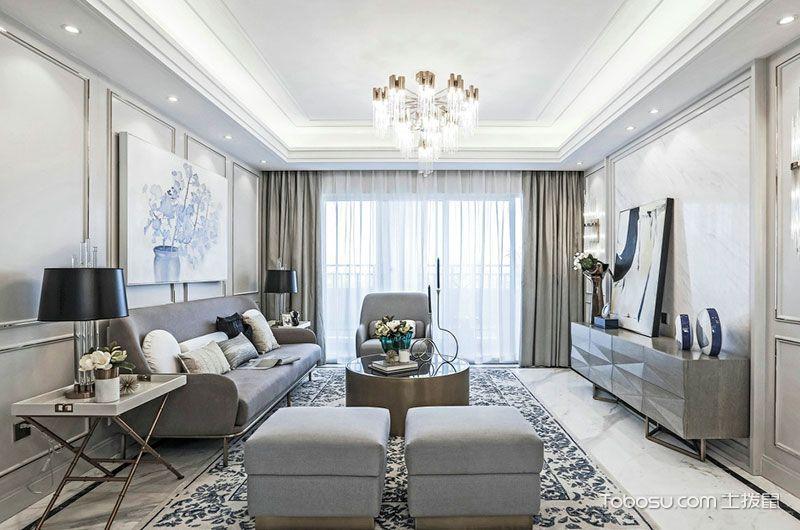2021法式110平米装修设计 2021法式套房设计图片
