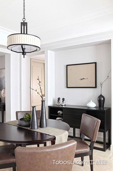 106平新中式装修效果图 优雅闲适三居室